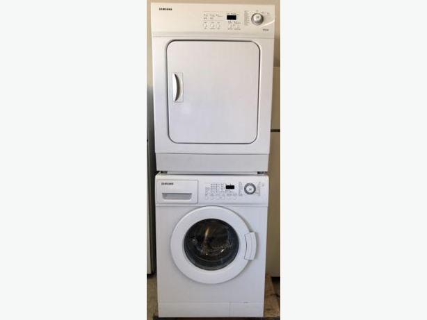 Samsung Compact Frontload Stacking Laundry Set