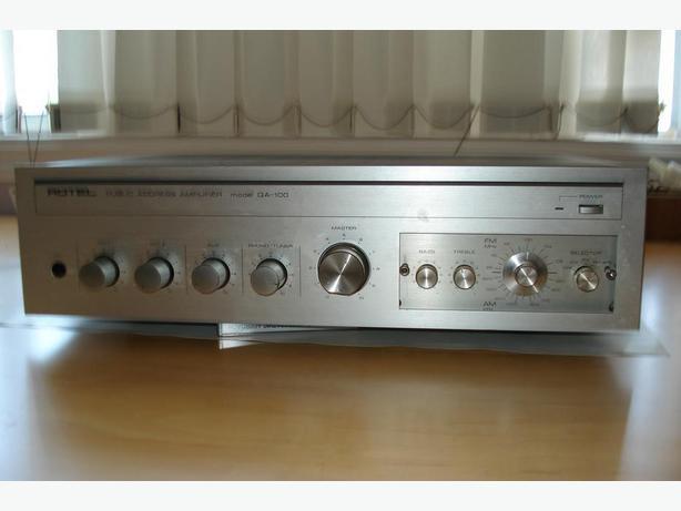 Rotel :  Public address, Am/Fm radio amp.  Very High Quality