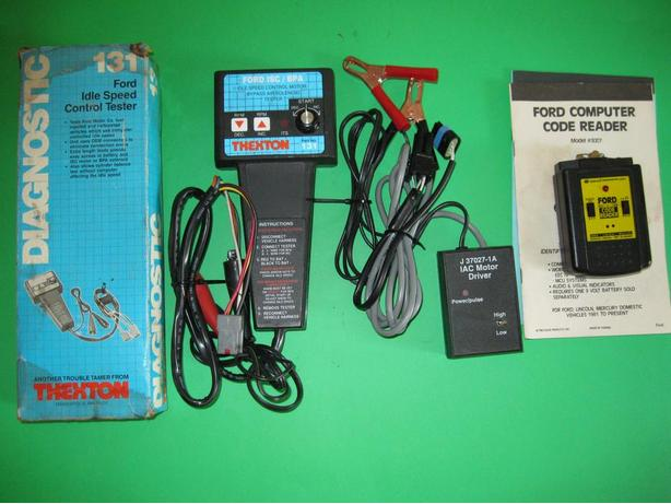 Ford and GM idle speed control tester, code reader