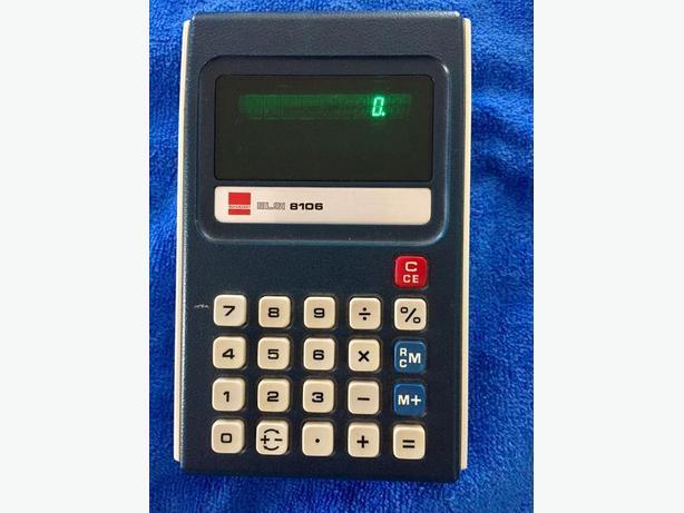 Vintage Sharp ELSI 8106 Calculator - Works!