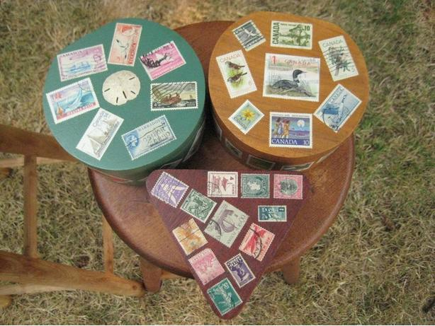 POSTAGE STAMP BOXES