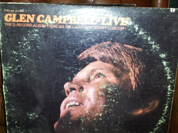 "RARE!  VINTAGE ""2-LP"" RECORD SET GLEN CAMPBELL ""LIVE IN NEW JERSEY"""