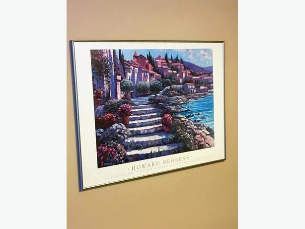 """Steps of St. Tropez"" by Howard Behrens Framed Print"