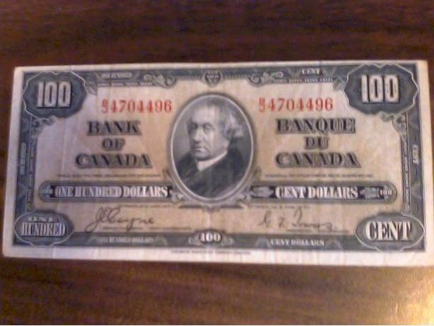 1938 hundred dollar note