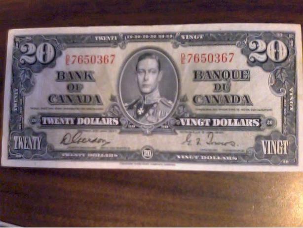 1937 twenty dollar Note