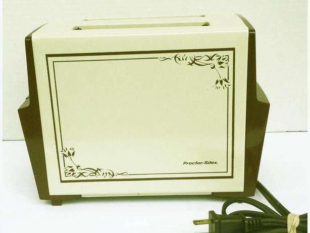 Vintage Protor Silex TOASTER Beige and Brown --FIRM