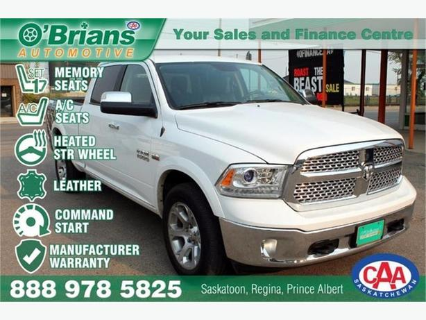 2016 Ram 1500 Laramie w/Mfg Warranty, Leather, 4x4