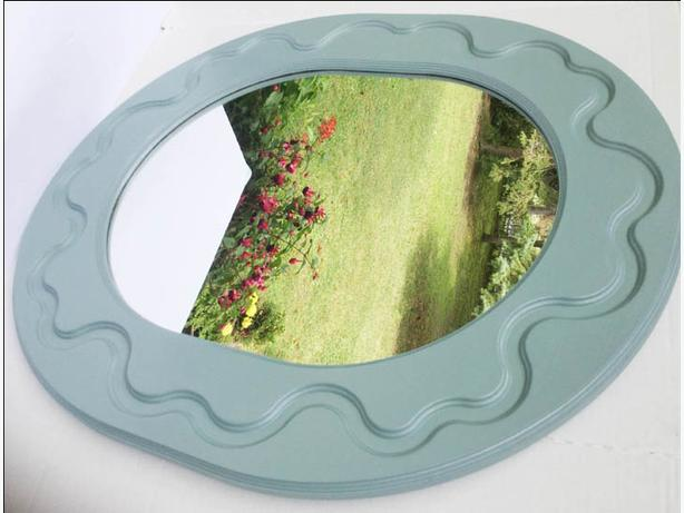 Beautiful Large Oval Mirror Refurbished--FIRM