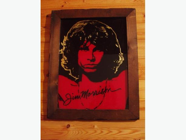 Mirrored Signed pic of Jim Morrison
