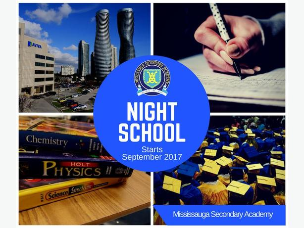 Night School Credit Courses in Mississauga