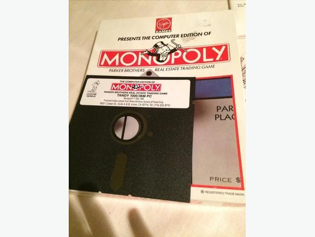 Vintage 1991 Monopoly Video Game