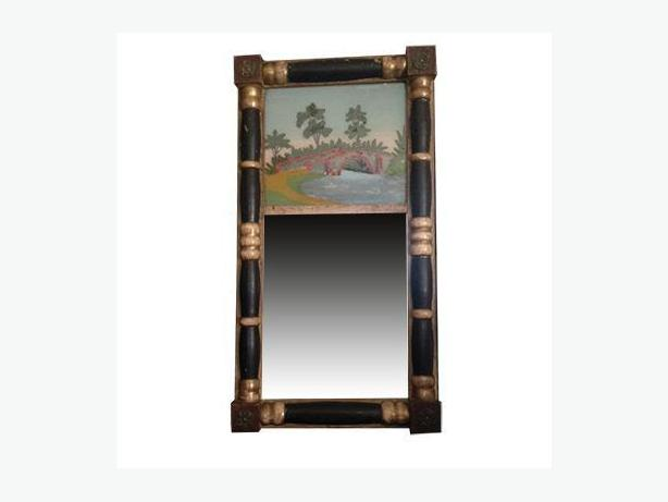 Antique Reverse Painted Mirror (Circa 1830)