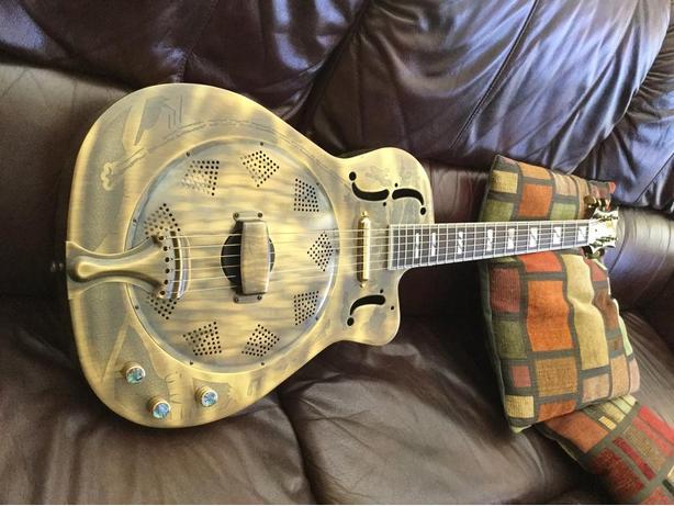 Dean Slim Body Electric Resonator Guitar