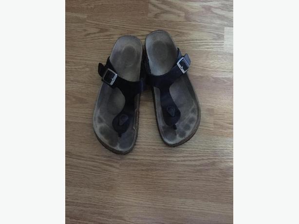 Black 'Birkenstock look-a-like' shoes