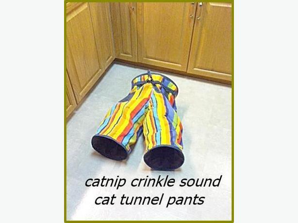 Catnip Cat Play Tunnel Pants