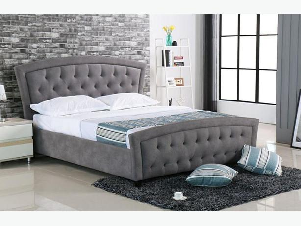 Grey Queen Fabric Bed Frame