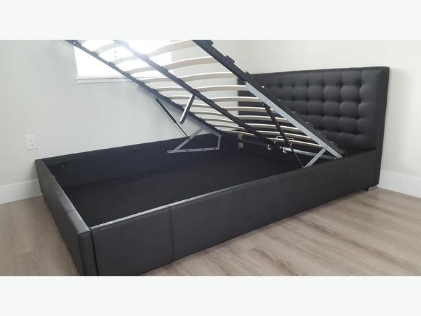 Queen size Pull Up Storage PU Bed Frame
