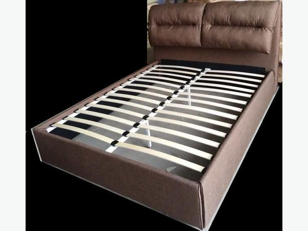 Brown Queen Fabric Bed Frame