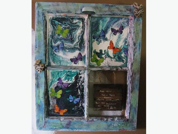 old window---art work