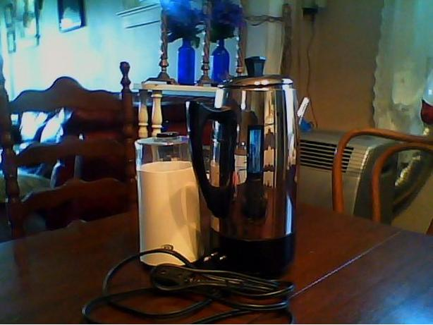 ELECTRIC PERCULATER AND NEW COFFEE GRINDER