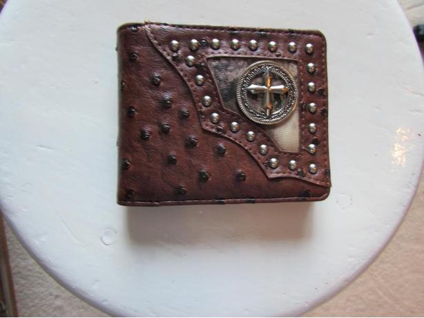 Western ostrich quill wallet
