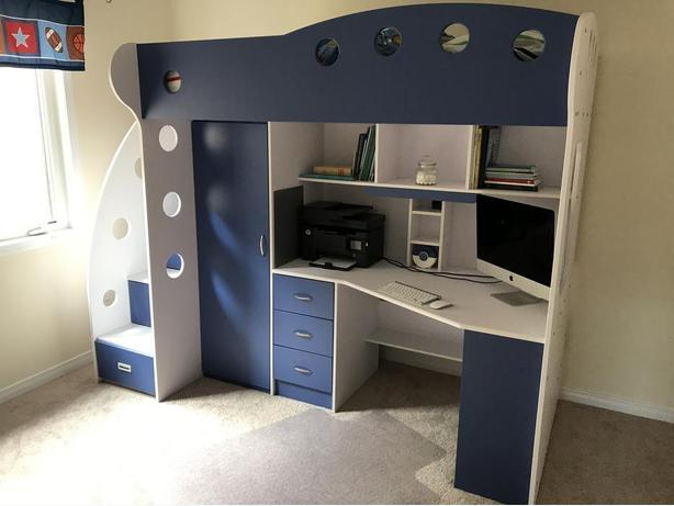 NIKA Loft bed with desk