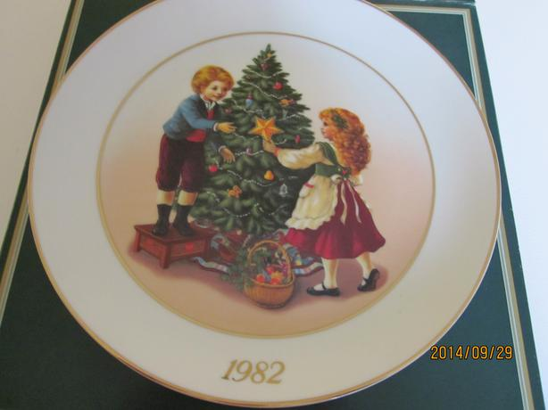 Christmas Plates by Avon