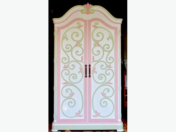 Solid wood, Hand painted, Princess Wardrobe