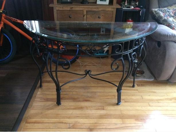 Iron Wrought Sofa Table