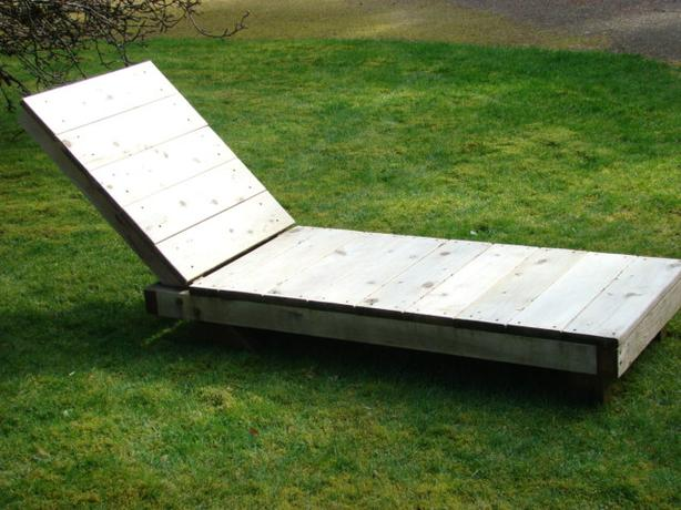 Hand Crafted Wooden Lounger