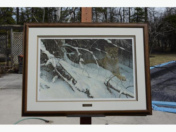 COUGAR IN THE SNOW by Robert Bateman  [Cougar]