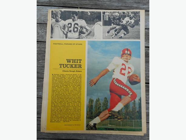 1963 STAR WEEKLY CFL + NHL Photos - Whit Tucker, Henri Richard