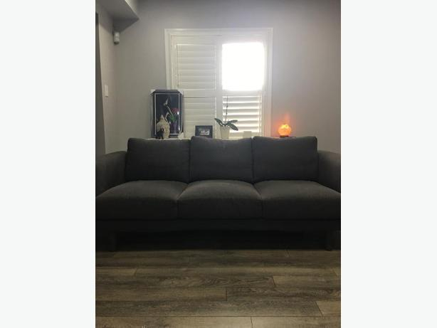 dark gray 3 seater sofa - less than a year old