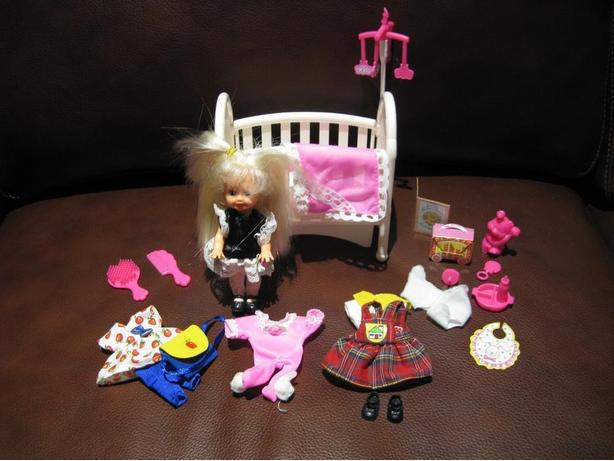 4 Barbie Dolls and Accessories For Sale