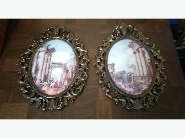 CHOICE OF LARGE ORNATE METAL FRAME PICTURES