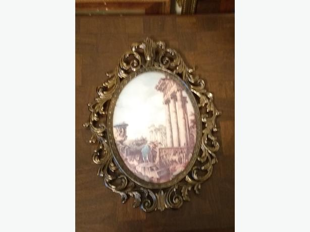LARGE ORNATE METAL FRAME / PICTURE