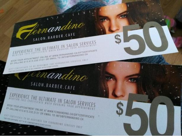 $100 in Fernandino Salon Gift Certificates
