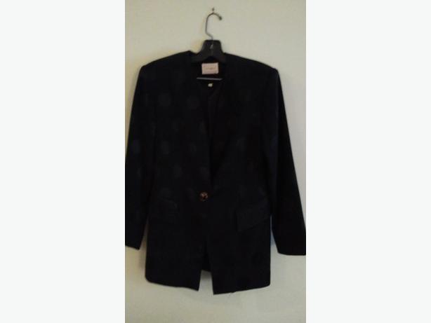 Elegant Black Louben size 12 suit