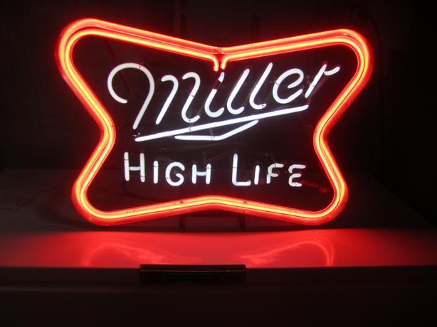 Vintage ( 1970's ) Miller Light Neon Sign