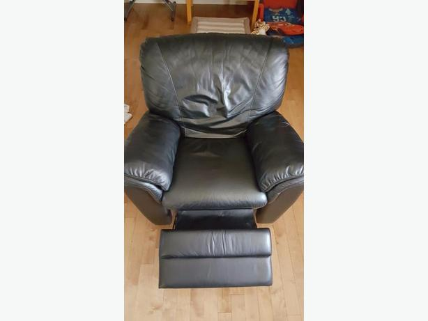 Recliner chair - genuine italian leather