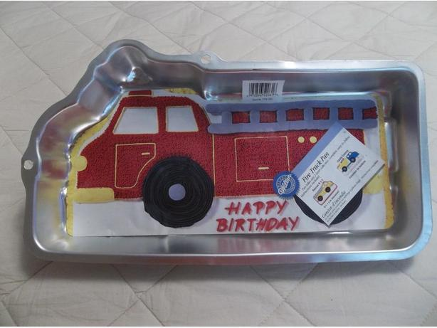 Happy Birthday Brand new Wilton Fire truck cake pan