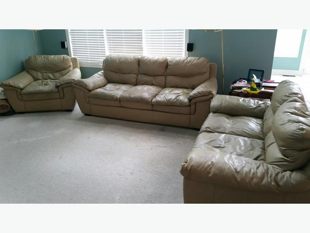 Leather Sofa/Loveseat/Chair Set