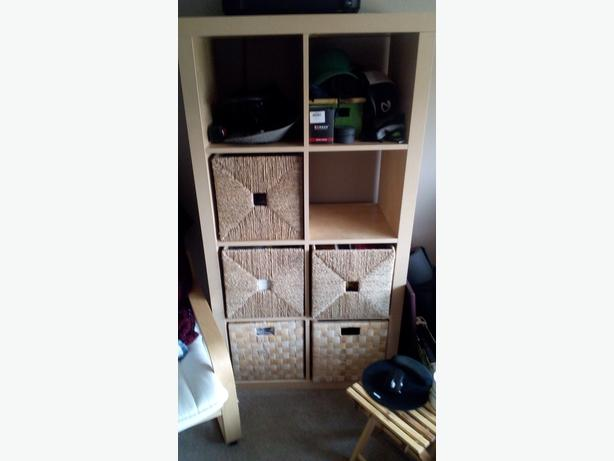 IKEA shelving unit with baskets