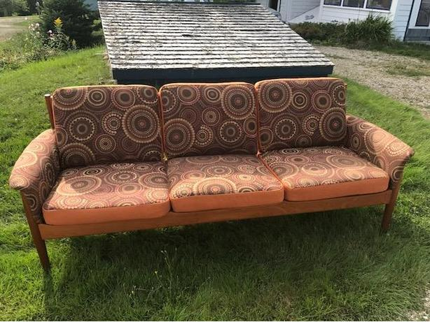 Beautifully Recovered Mid-century Modern Sofa