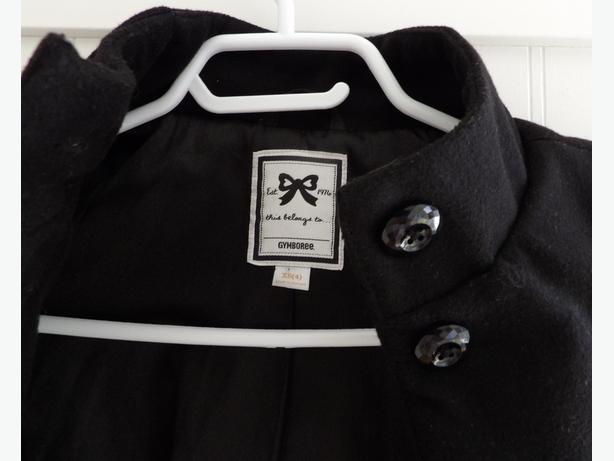 Gymboree Girl's Black Winter Dress Coat Size XS (4)
