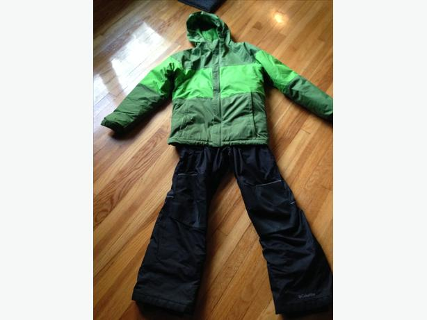 Columbia Omni Heat Thermal Comfort Winter Jacket and Bibbed Ski Pants