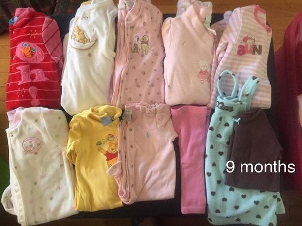 baby girl size 9 months clothes