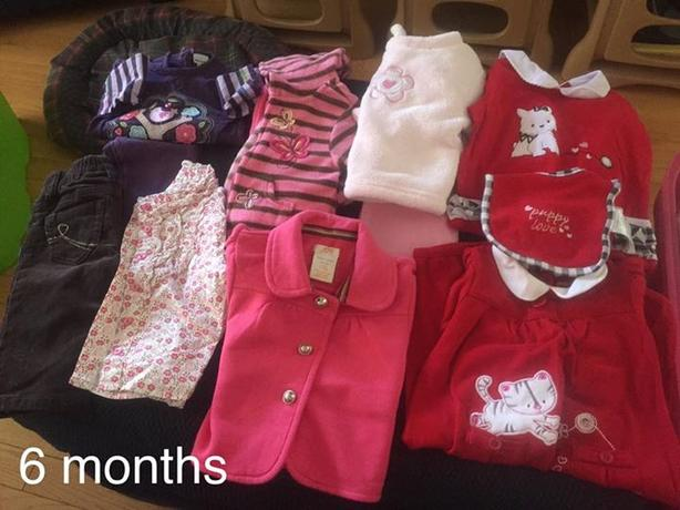 baby girl size 6 months