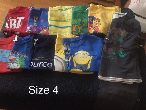 boy clothes size 4