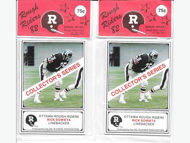 Rare 1982 Ottawa Rough Riders football card sets by Jogo